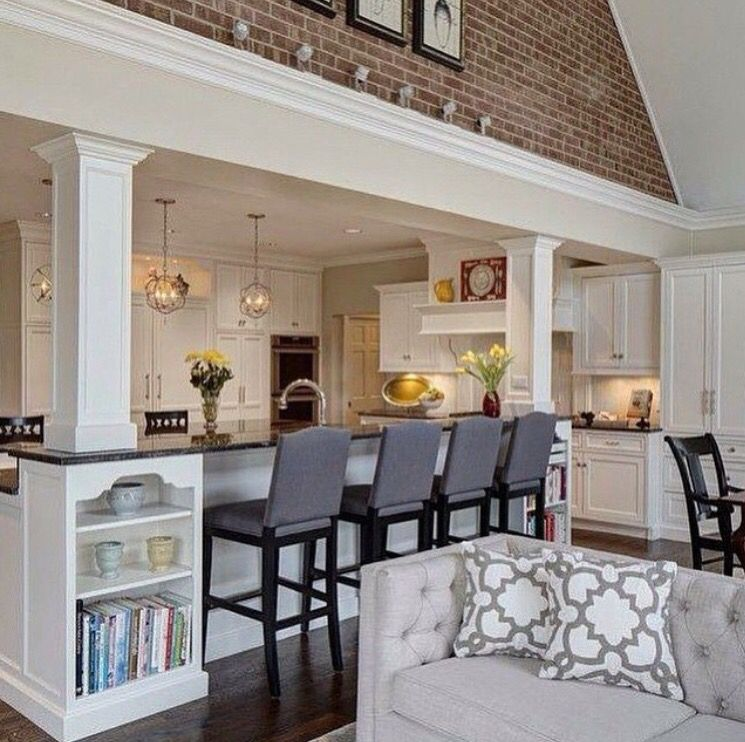 Perfect Way Transition Ceiling Heights And Hide Structural Posts The Brick Wall