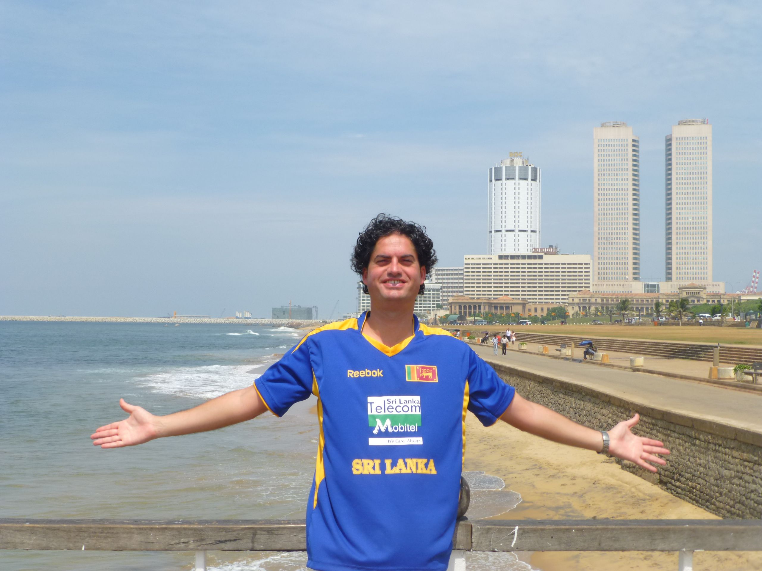 Frédéric Mathieu in Colombo, Sri Lanka (05/02/2013)