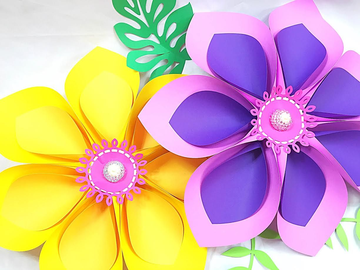 Easy Giant Paper Flower Tutorial Lately My Home Studio Has Been