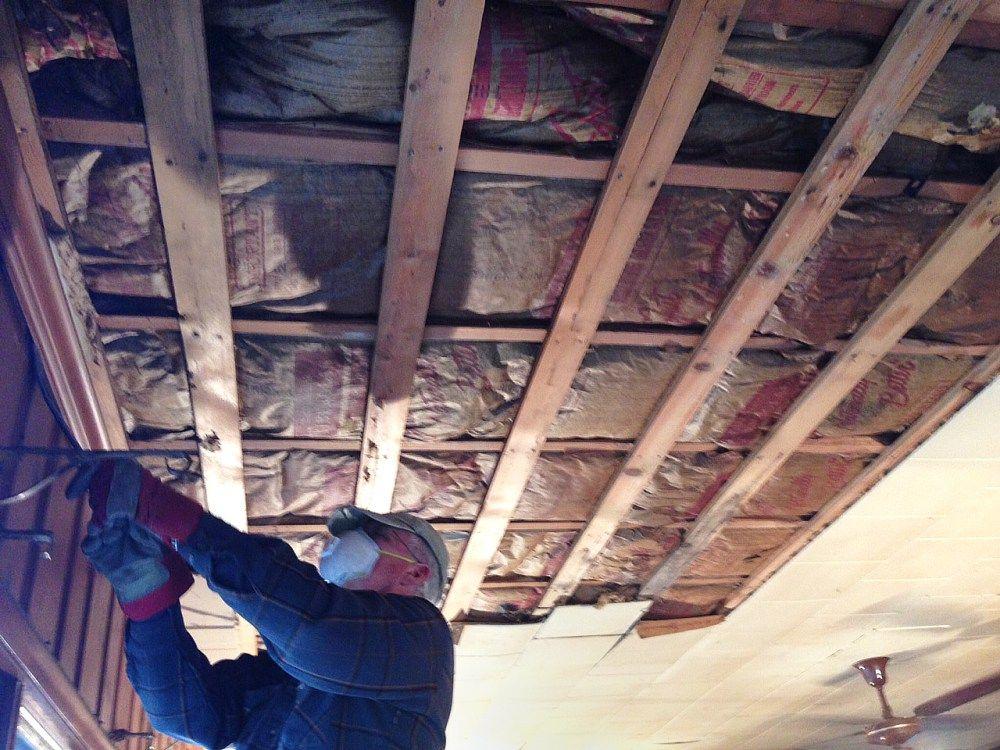 Removing Ugly Ceiling Tiles Rehabdorks Rehab Dorks Pinterest