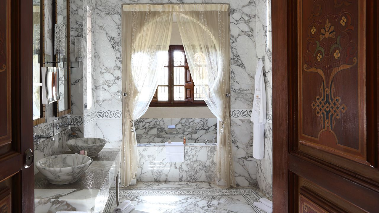 marble, marble everywhere. royal mansour - luxury hotel in