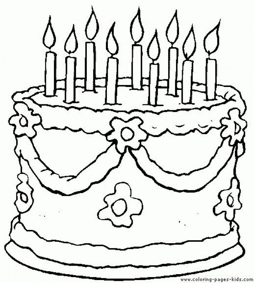 30 Marvelous Photo Of Birthday Cake Coloring Pages Birthday