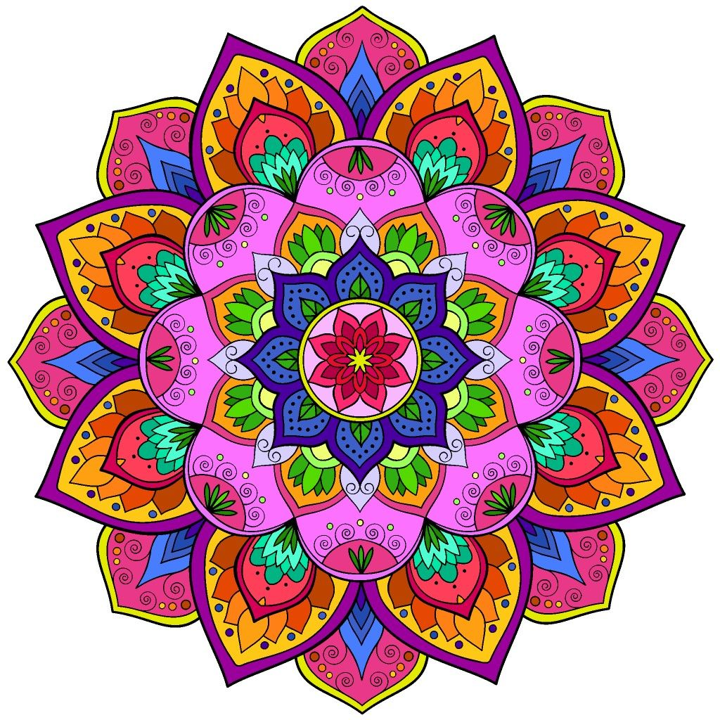 Pin by м on раскраска | Coloring book app, Mandala ...