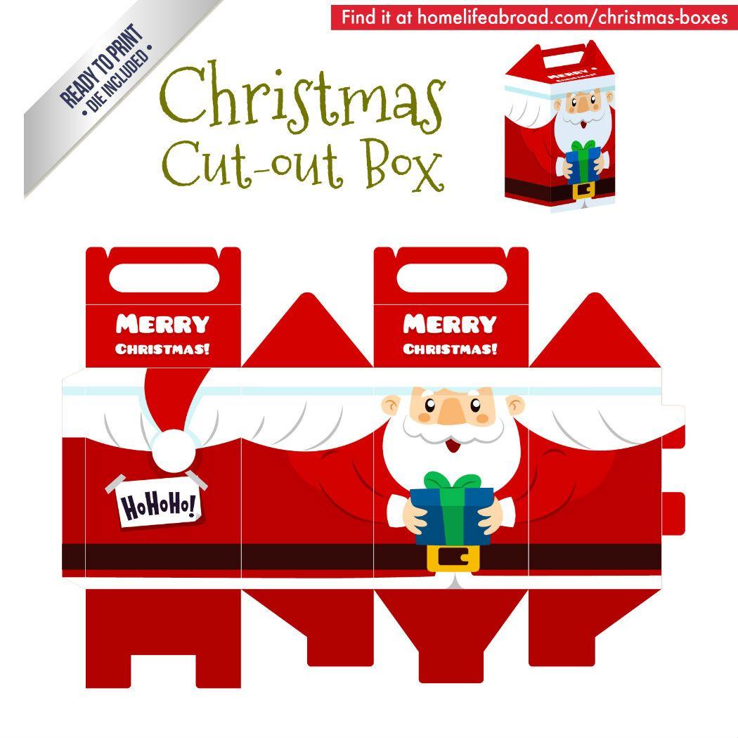 Christmas Santa Cut Out Box