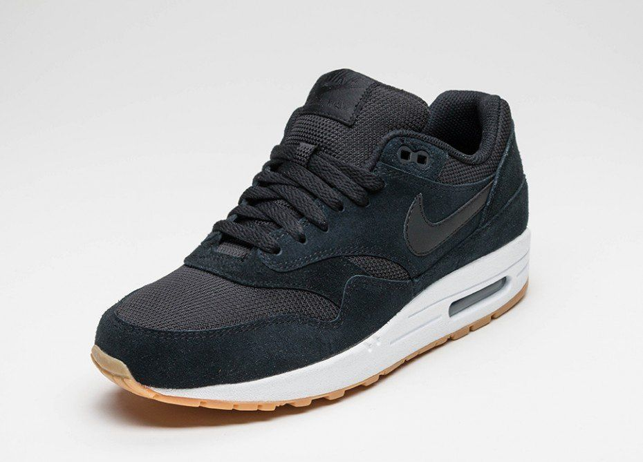 Air Max 1 Essential BlackBlack White Gum Yellow