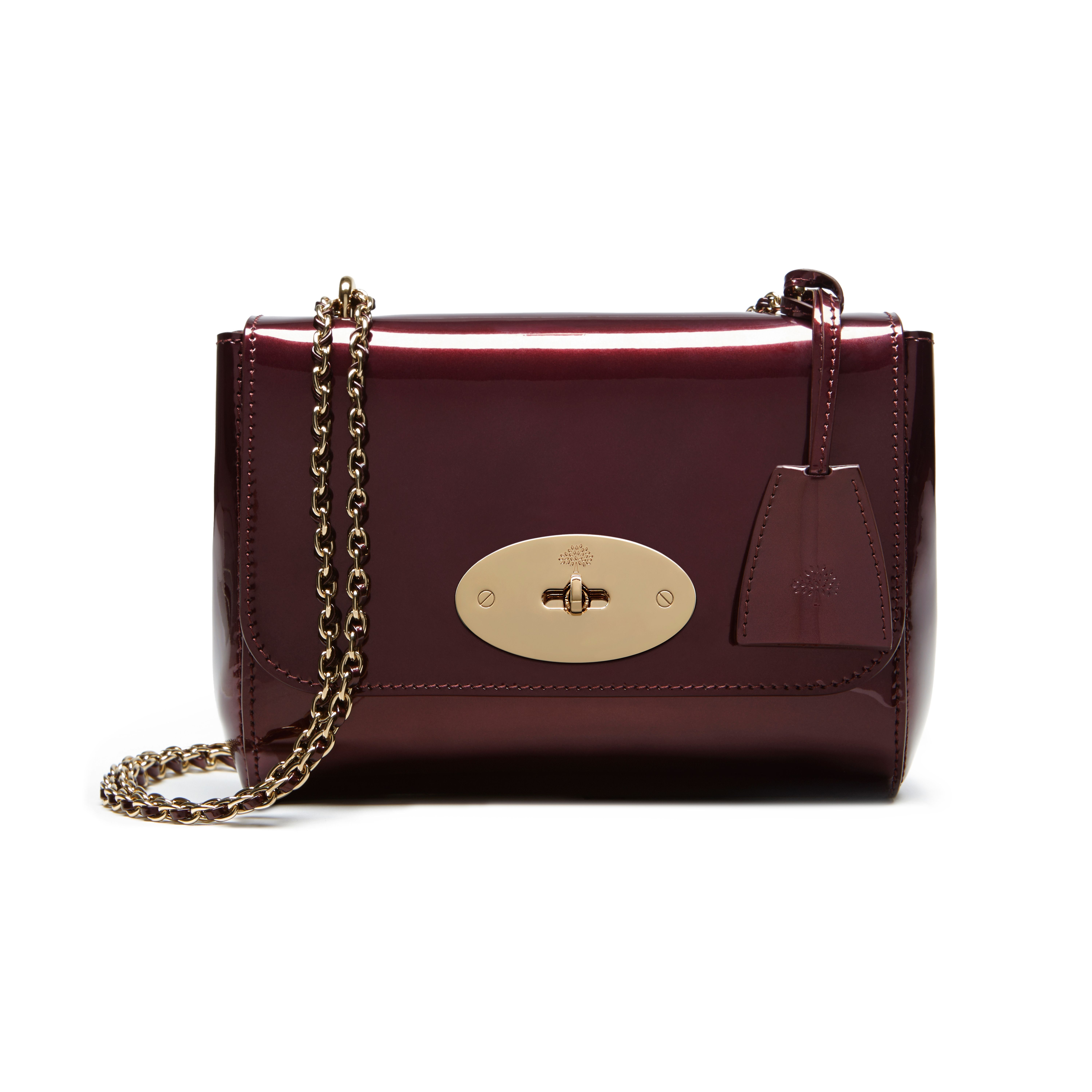 dc3fa4b4f20 Mulberry - Lily in Oxblood Mirror Metallic Leather | What to Wear ...