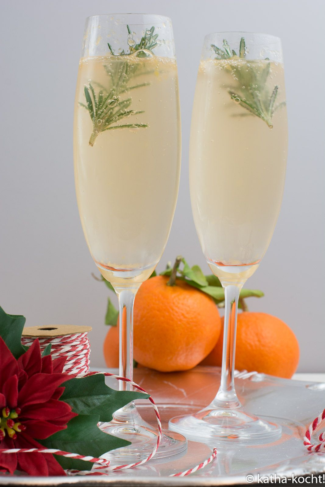 Winterlicher Mandarinen-Gin Tonic mit Rosmarin #drinks