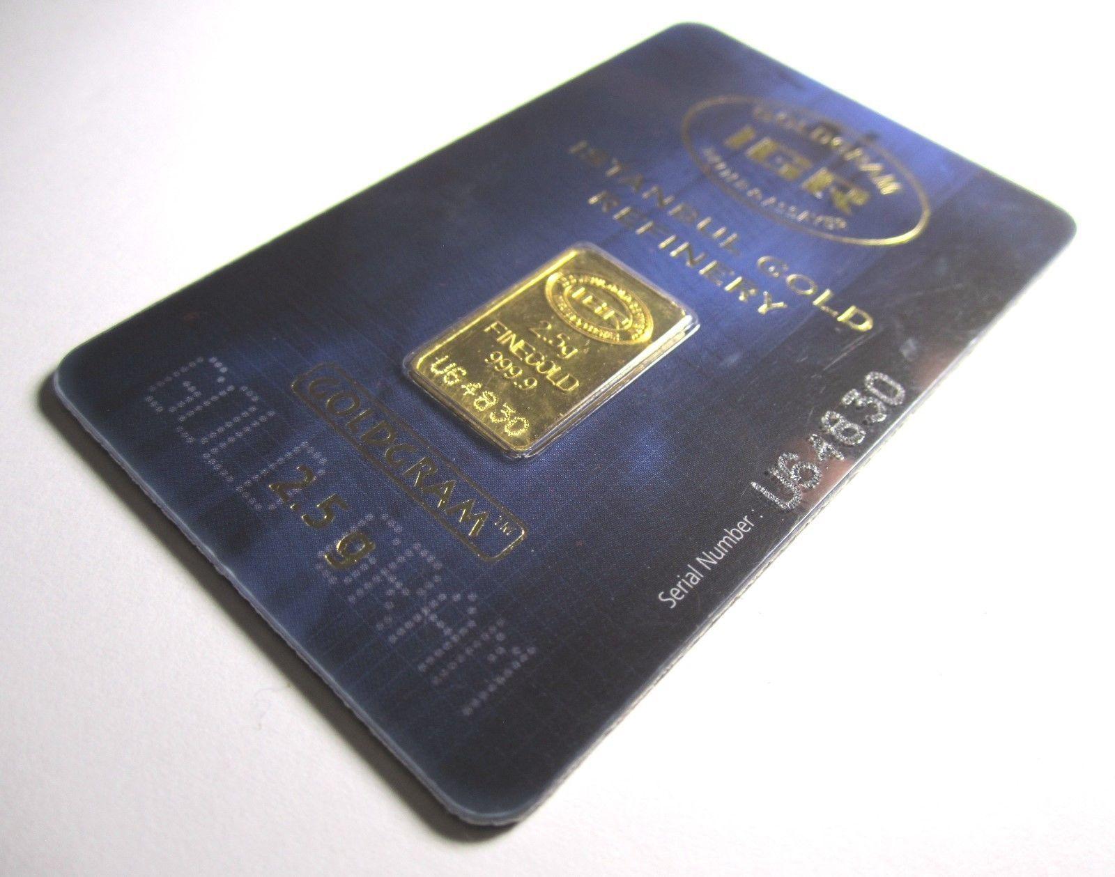 Igr 2 5 Gram 9999 Fine Turkish Gold Bar Goldgram Certified Assayer Invest Now 14kgold Gold Bar Investing Gold Stock