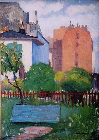 Henri Manguin (1874-1949)  was een Franse schilder, in verband met Les Fauves . Artistieke  opleiding in Parijs, net als Matisse en Charles Camoin met wie hij goede vrienden werd. Veel van zijn schilderijen waren van mediterrane landschappen; deze vertegenwoordigden het hoogtepunt van zijn carrière als Fauve kunstenaar.