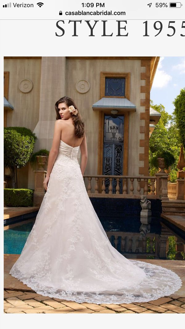 Casablanca Style 1955 Wedding Dress Size 2 Empire Wedding Dress