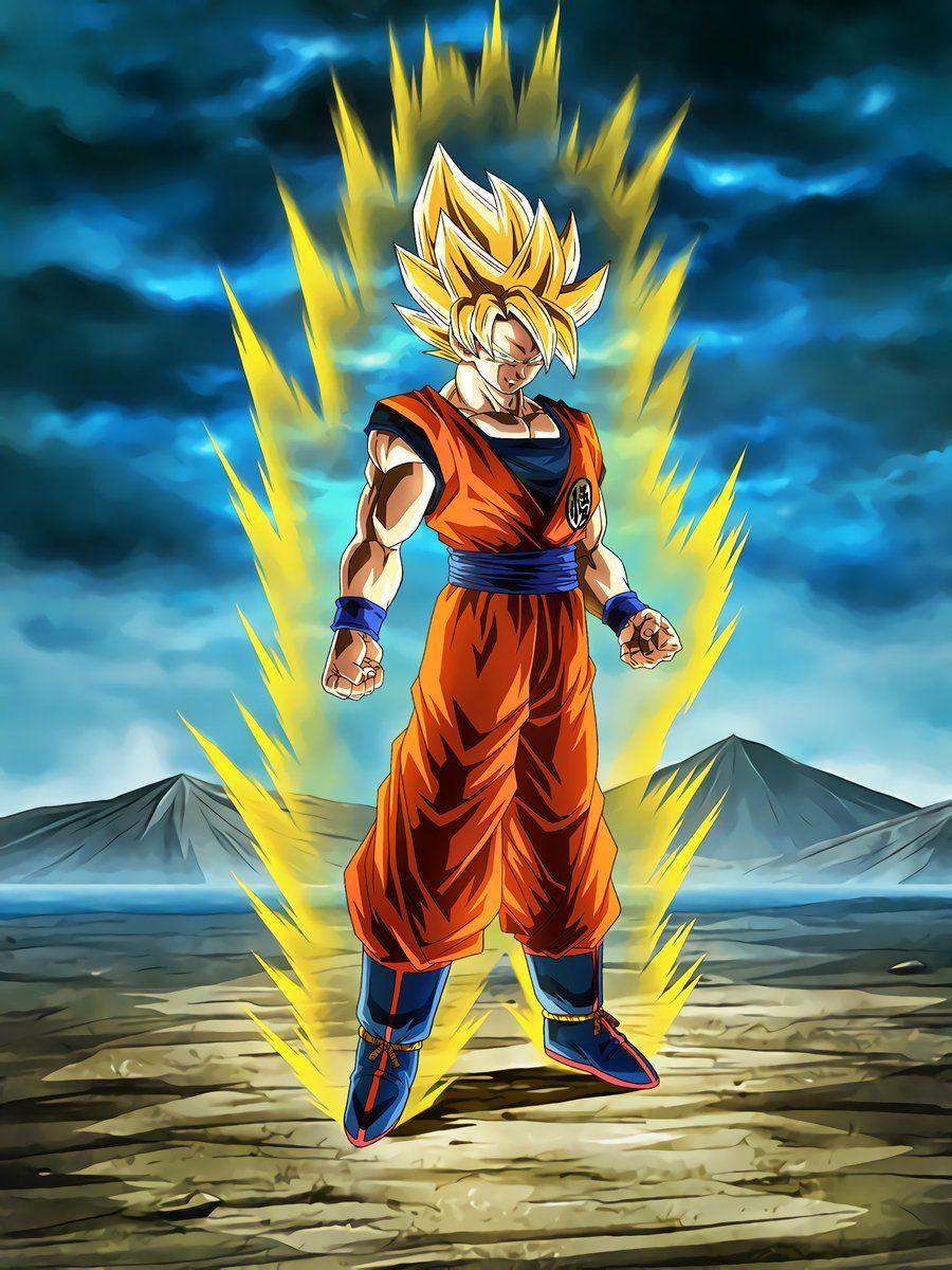 Boiling Power Super Saiyan Goku Dragon Ball Z Dokkan Battle Wikia Fandom In 2020 Anime Dragon Ball Super Dragon Ball Super Goku Goku Super Saiyan