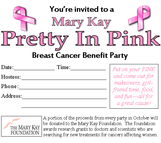 Mary kay party flyer templates the for Mary kay invite templates