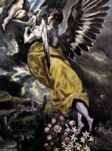 The Virgin of the Immaculate Conception (detail) - (El Greco (Doménikos Theotokopoulos))