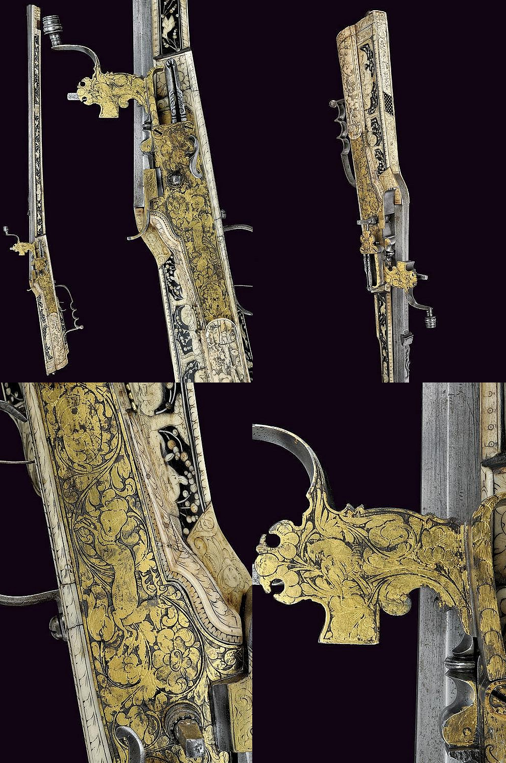 A beautiful wheel-lock gun, provenance: Germany dating: third quarter of the 17th Century.