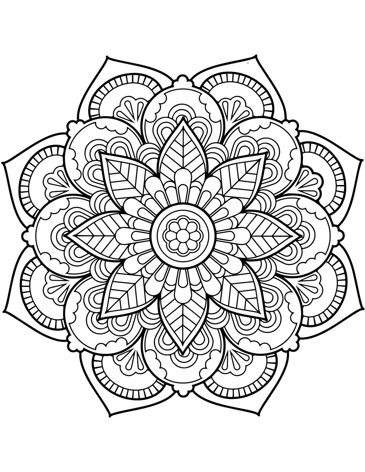 Flower Mandala Coloring Pages Best Coloring Pages For Kids Mandala Coloring Pages Flower Coloring Pages Mandala Coloring Books