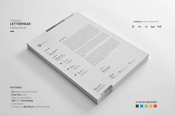 Modern Letterhead, Personalized Stationary, Personalized Letterhead