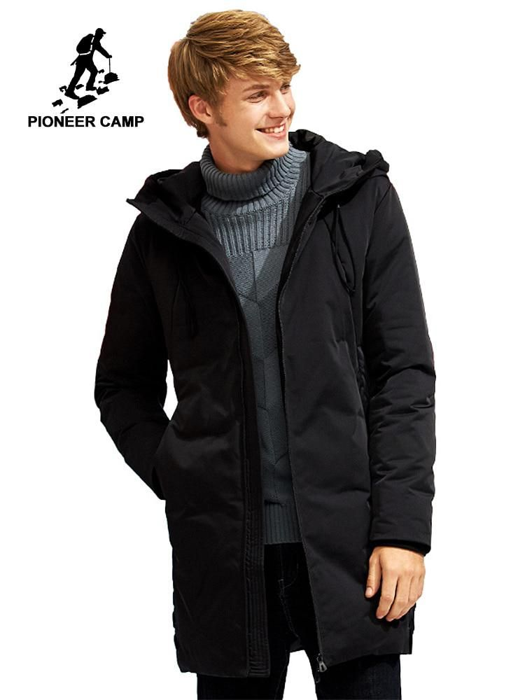 Pioneer Camp new long warm thick winter down jacket men