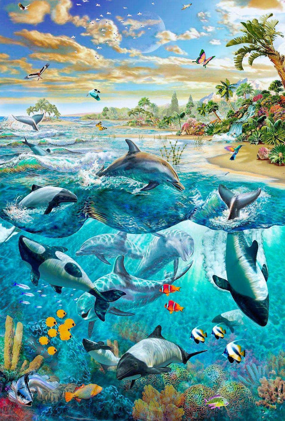 Imaginative Inspiration From Grasp Illustrator Adrian Chesterman Photo Vide Dolphin Art Airbrush Art Underwater Art