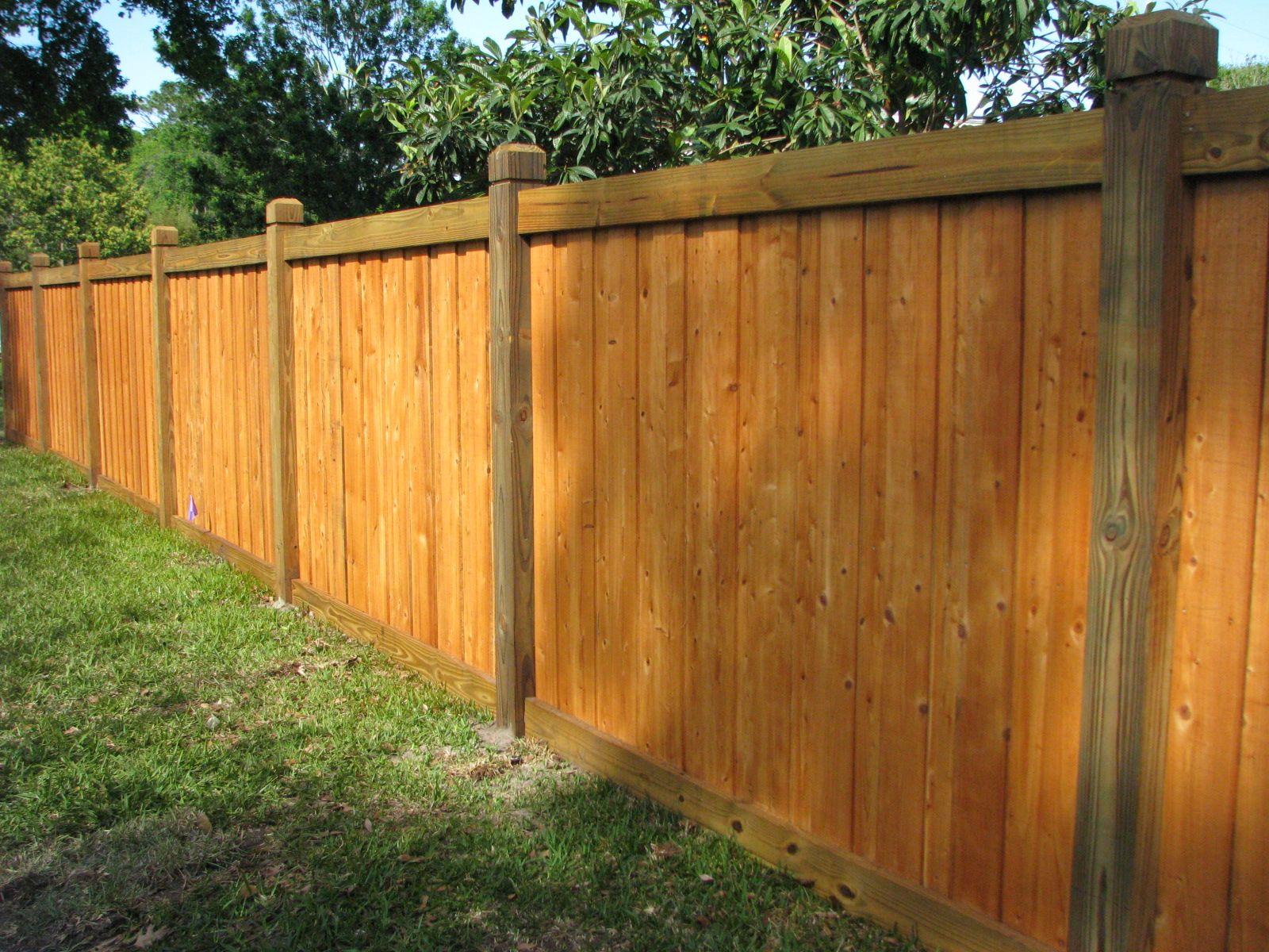 Capped wood board on board fence mossy oak fence company orlando capped wood board on board fence mossy oak fence company orlando workwithnaturefo
