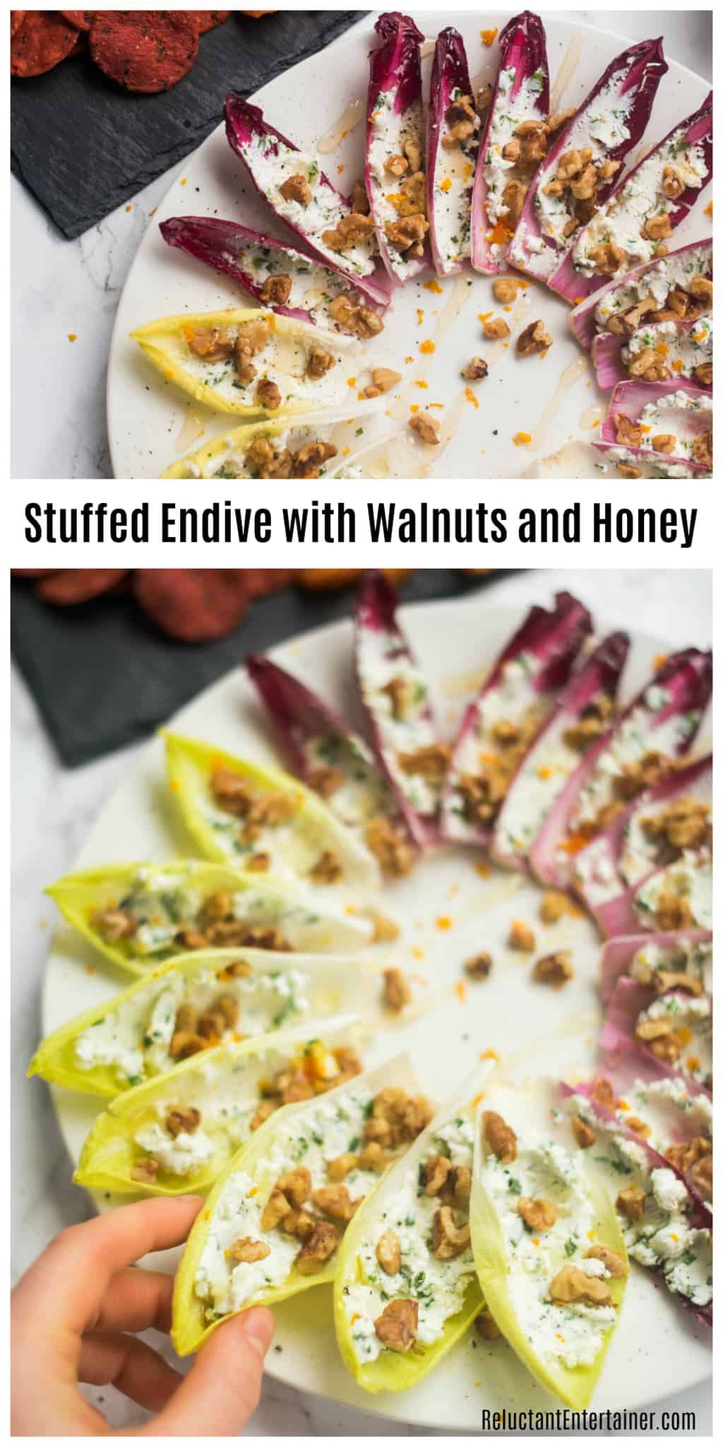 Stuffed Endive with Walnuts and Honey Recipe - Reluctant Entertainer