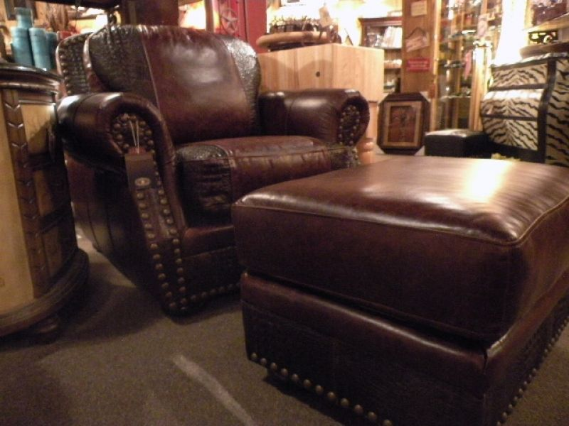 Leather Furniture, Leather Chair, Western Furniture, Rustic Furniture, Texas  Fur