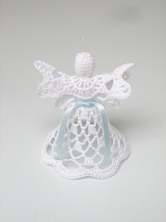 Charmant White Crochet Angel Angel Decoration Christmas Angel By Linzes, $8.00