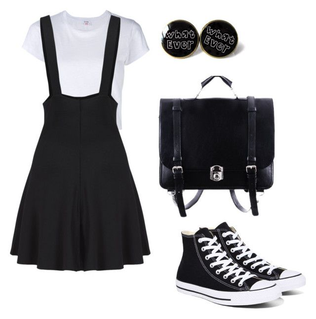 """""""Outfit #14"""" by samrosina on Polyvore featuring RE/DONE and Converse"""