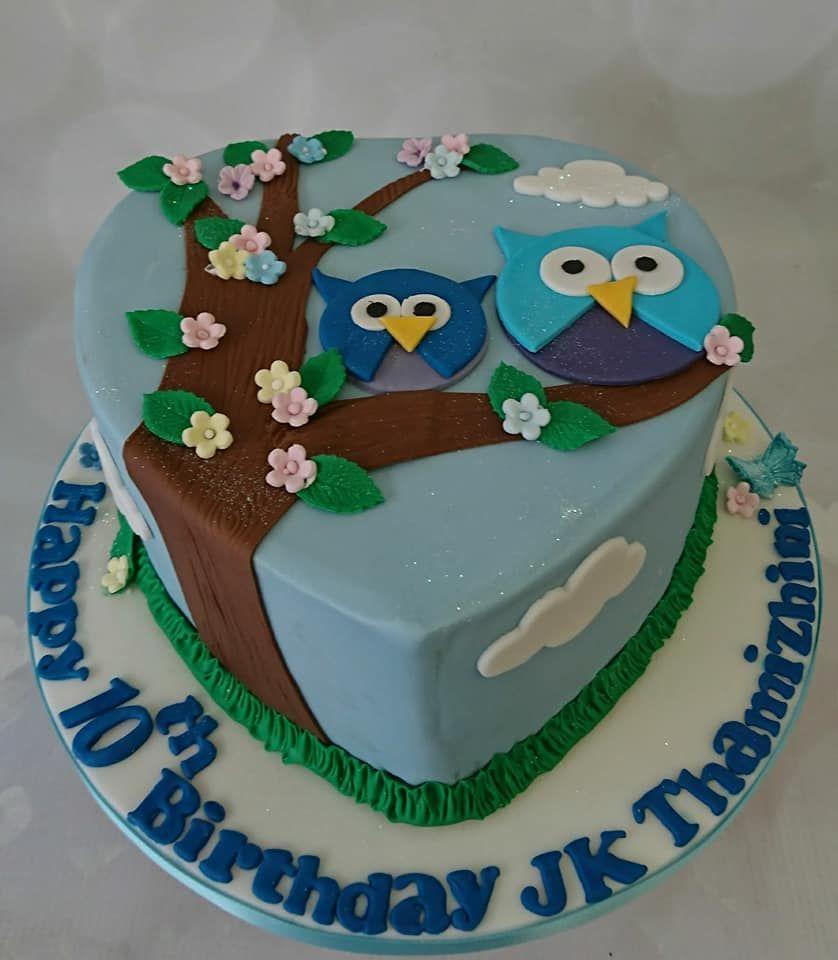 girls 10th birthday owl cake girls cakes Pinterest Girl cakes