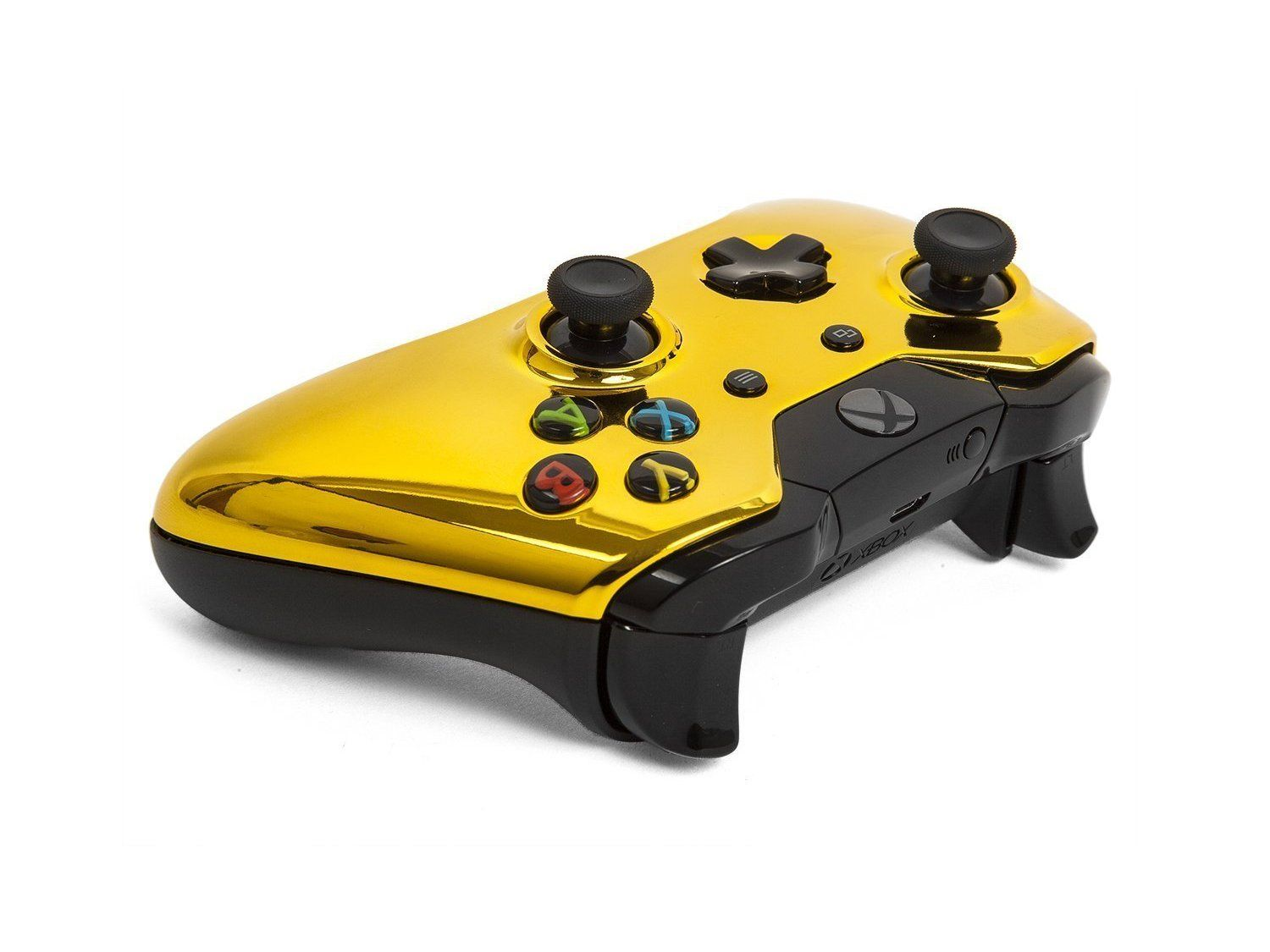 Xbox One Modded Controller Chrome Gold Master Mod Includes Rapid