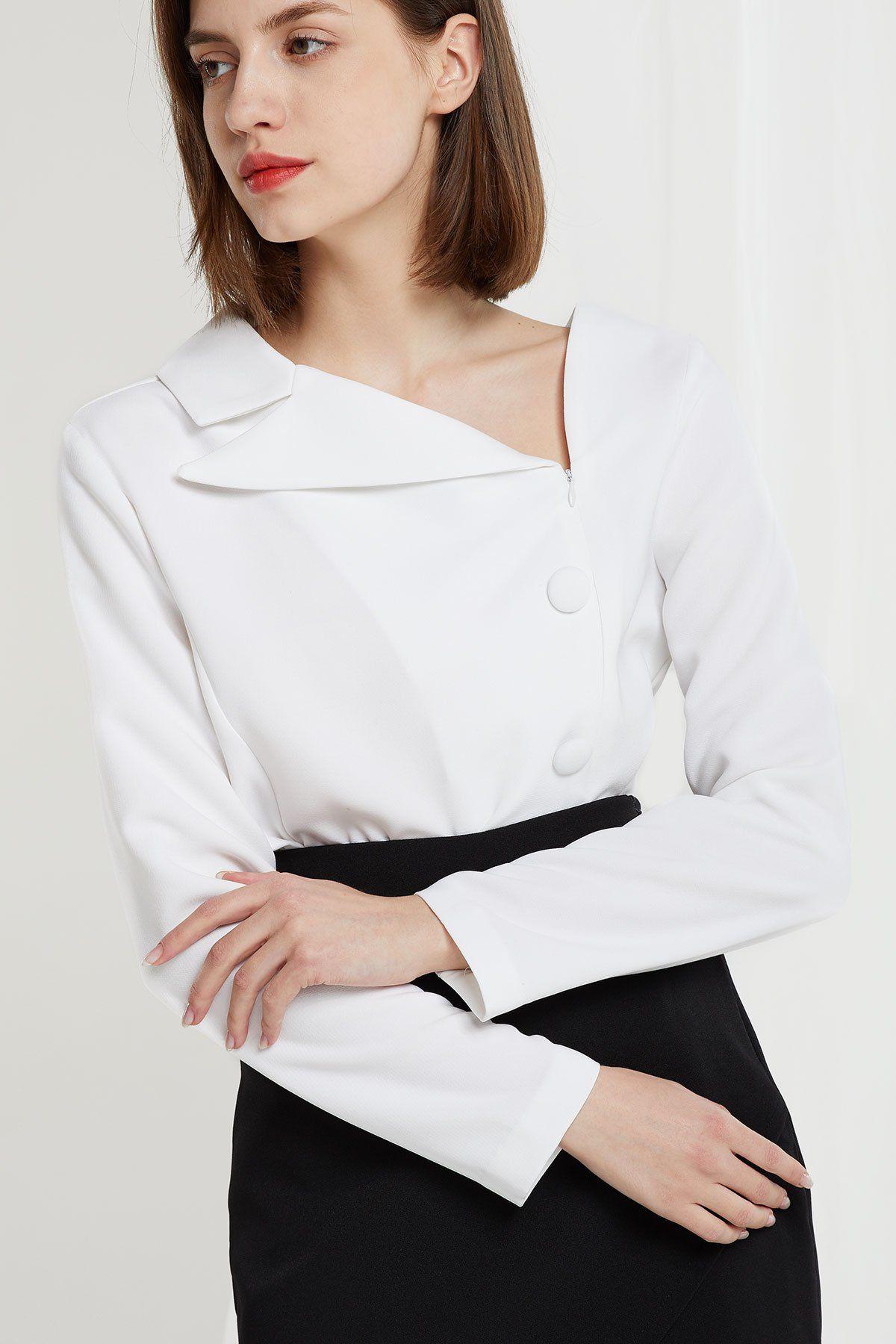4438d68d3e6 Azalea Asymmetric Collar Blouse in 2019