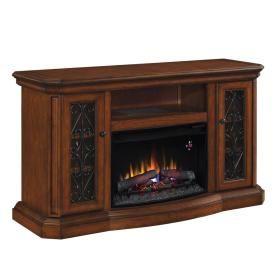 Allen Roth 60 Quot Antique Verde Electric Fireplace