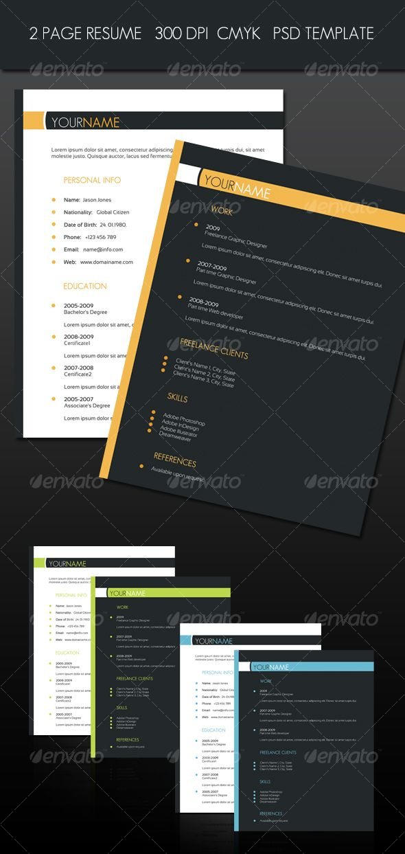 2 Page Resume - Resumes Stationery Also, How to share your designs - 2 page resume