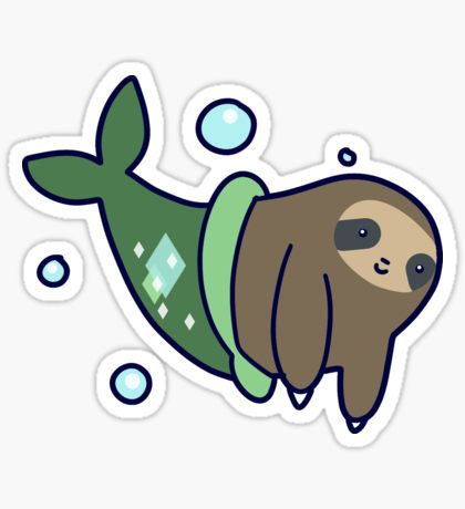 Green D Tag Sloth Sticker
