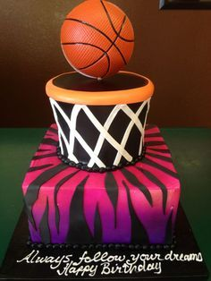 Basketball Cake For A Girl