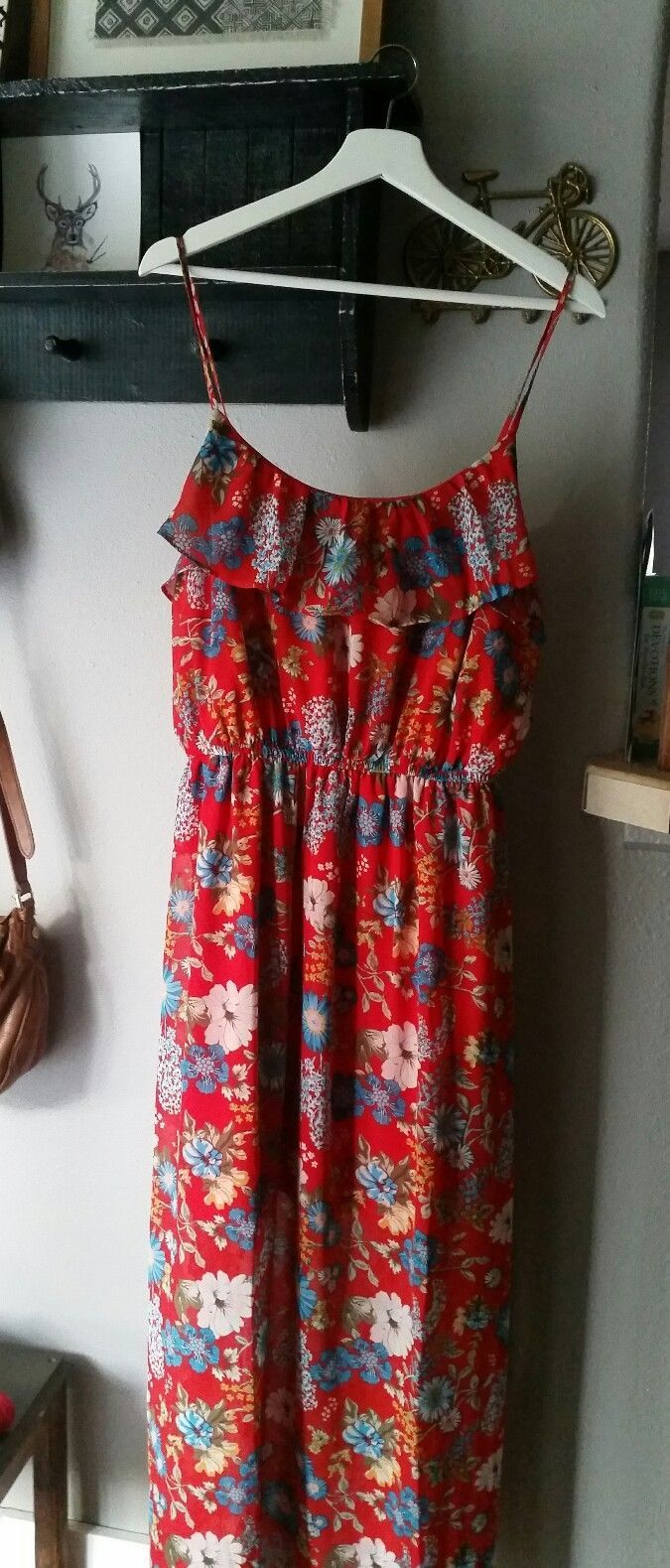 Nice awesome forever plus size long floral maxi dress size x