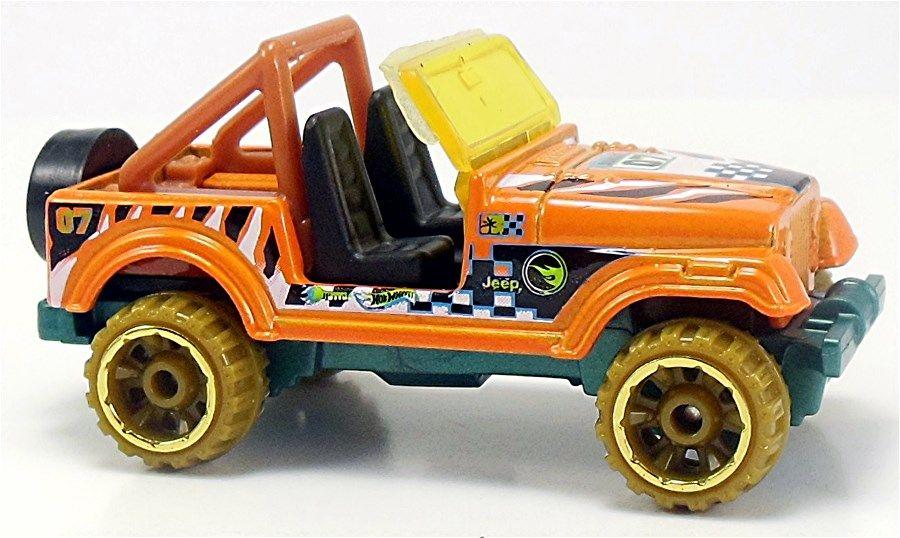 Jeep Cj 7 101 250 Adalah Bagian Dari Seri Hw Off Road Dan Merupakan Bagian Dari Treasure Hunt 2015 Jeep Oranye Menawarkan Gr Jeep Cj Hot Wheels Interior Hitam