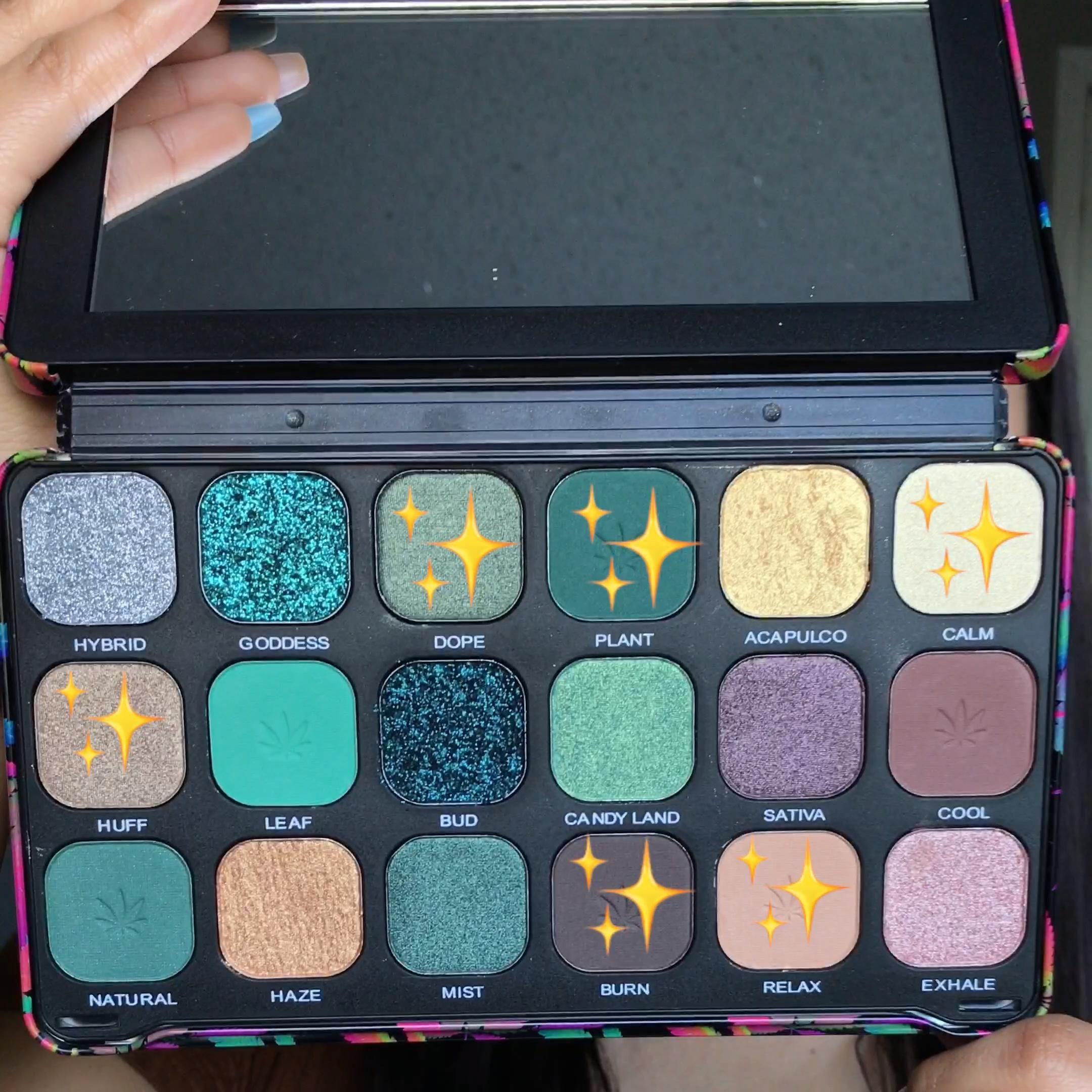💚✨Makeup Revolution Chilled palette tutorial  Chilled Palette look  420 makeup
