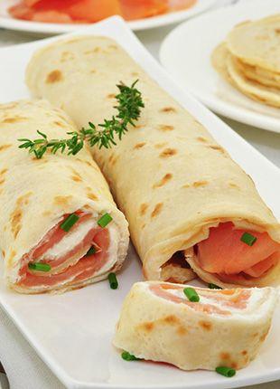 Crepes Roulees Au Saumon Fume Sans Gluten Maizena Idees Manger