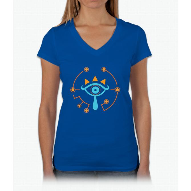 Sheikah Slate Womens V-Neck T-Shirt