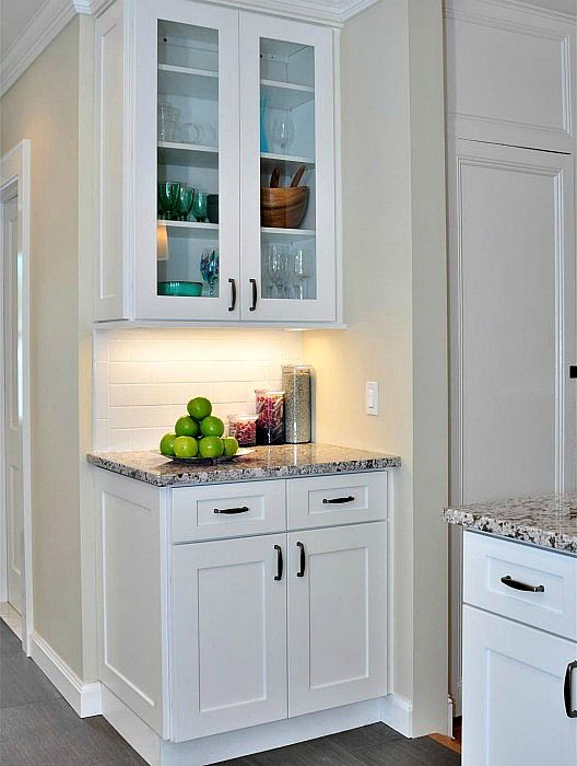 Aspen White Shaker. Honey and Brazilian (Dark) also available. RTA cabinets. Starting at $106 #whiteshakercabinets