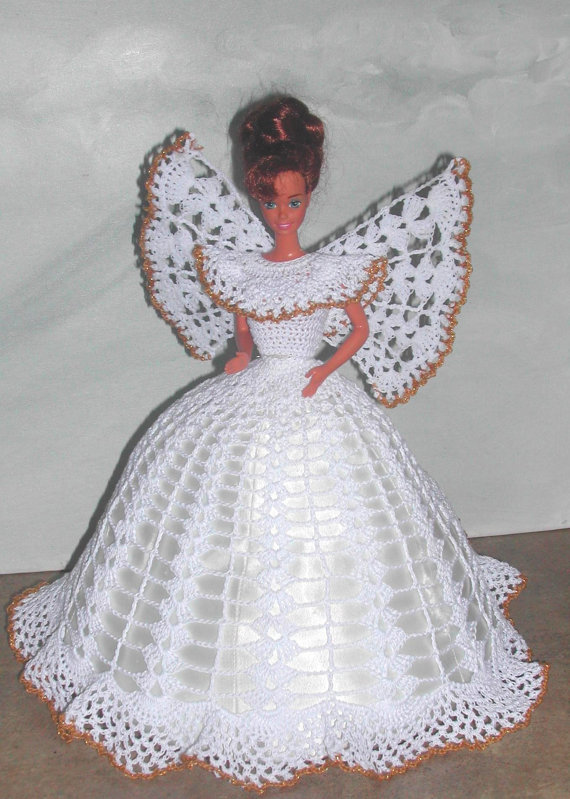 Crochet Fashion Doll Barbie Pattern- #499 ANGEL FAITH | ETSY ...
