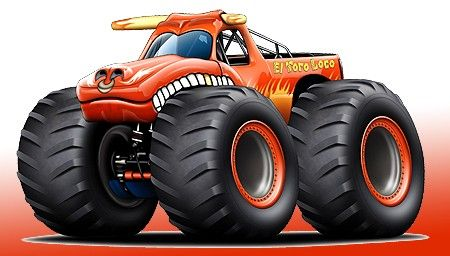 Cartoon Monster Trucks Clothing Shoes Accessories Unisex