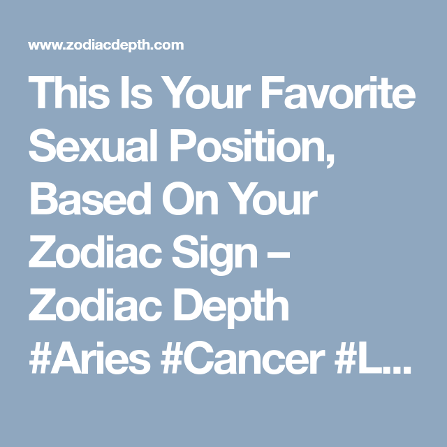 Favorite sex position of a libra can suggest