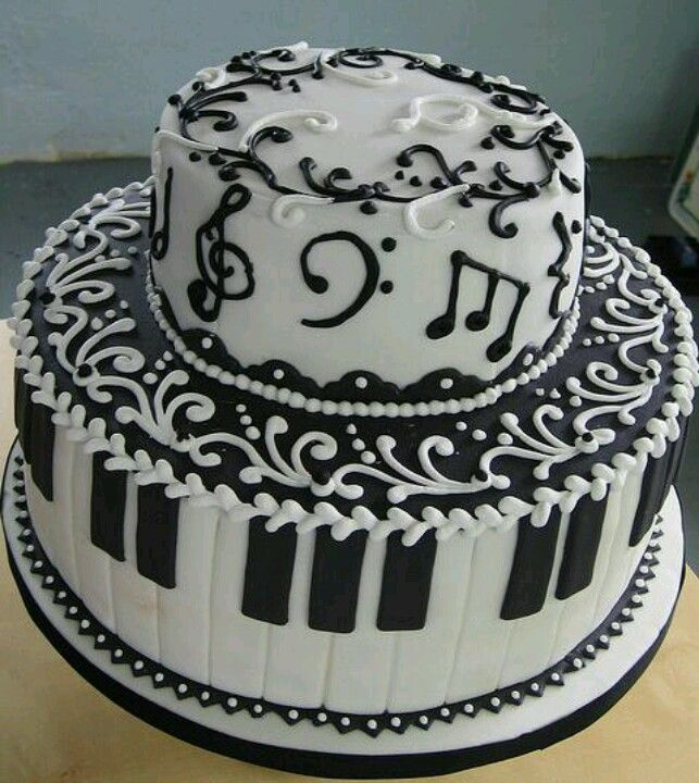 Music cake Musical cakes Pinterest Music cakes Cake and Black