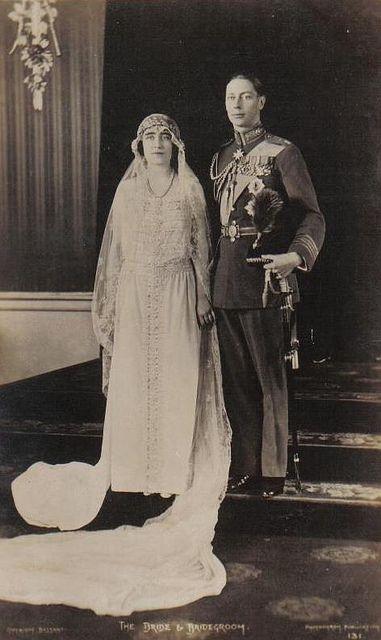 Wedding Photo Albert Duke Of York And Lady Elizabeth Bowes Lyon Lady Elizabeth Duke Of York Queen Victoria Family