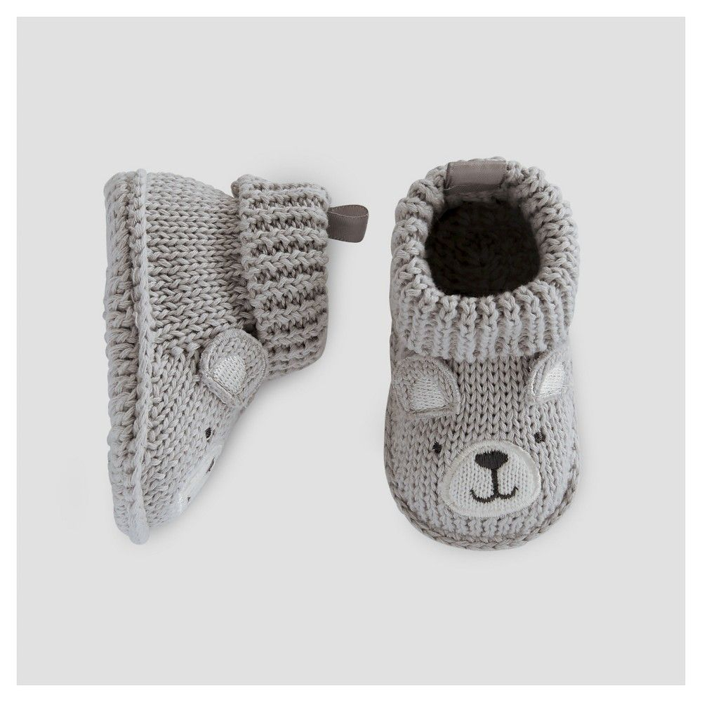 0ed50e930274 Baby Boys  Bear Booties Grey NB - Just One You Made by Carter s ...