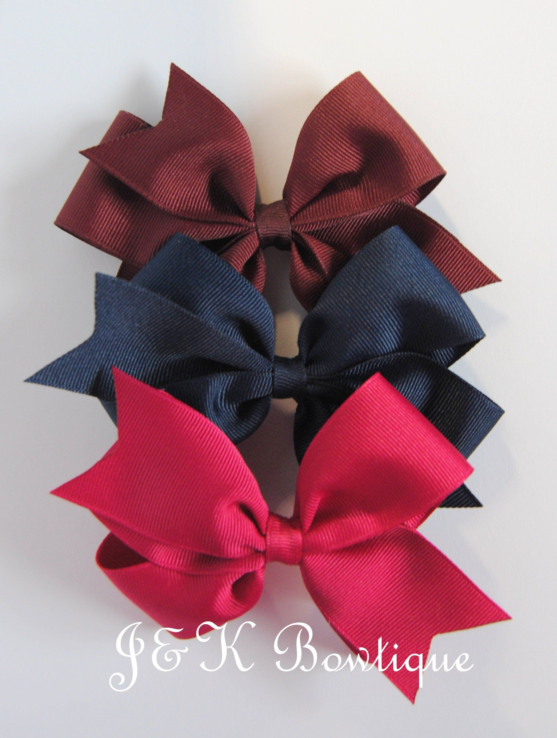 baby girl hair accessories dark pink azalea bow clips