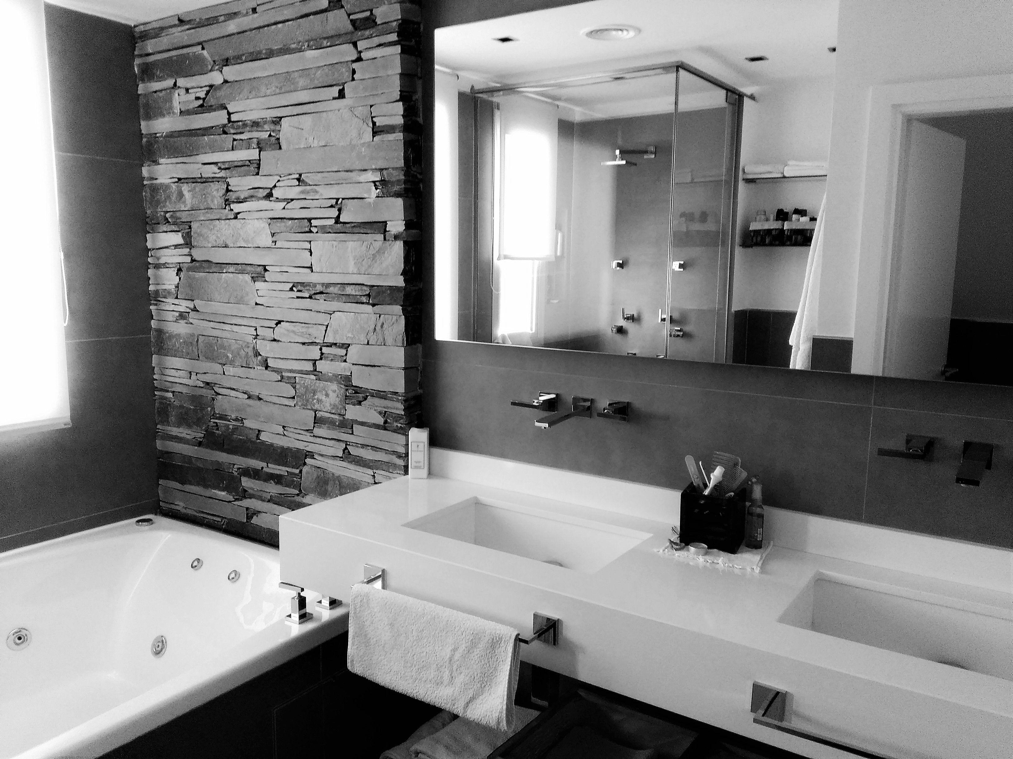 Cuarto de ba o moderno casa country estilo minimalista for Modelos de banos terminados