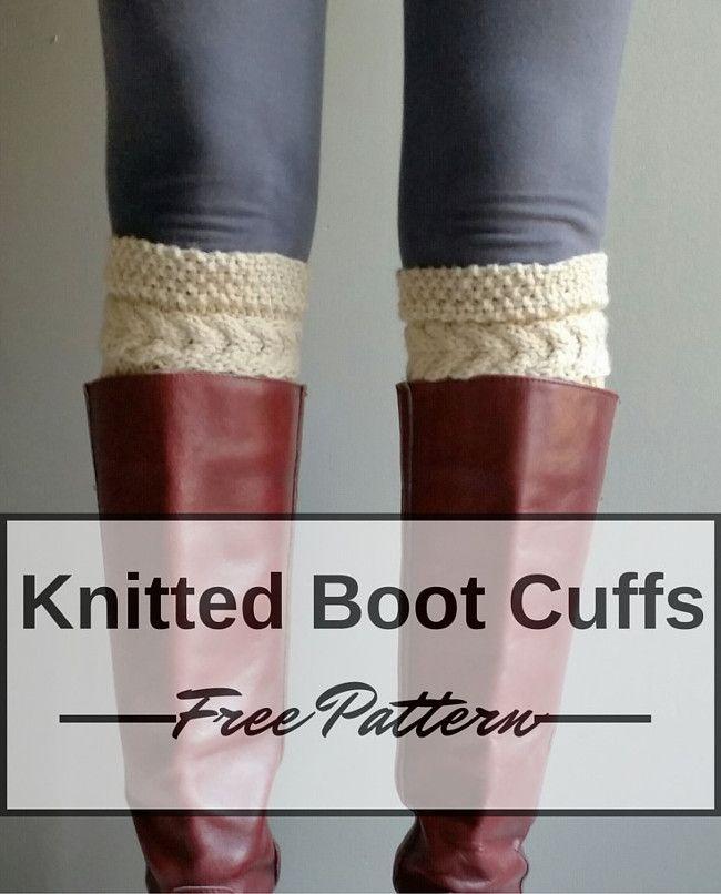 Boot Cuffs Free Knitting Pattern | Abuelas, Medias y Dos agujas
