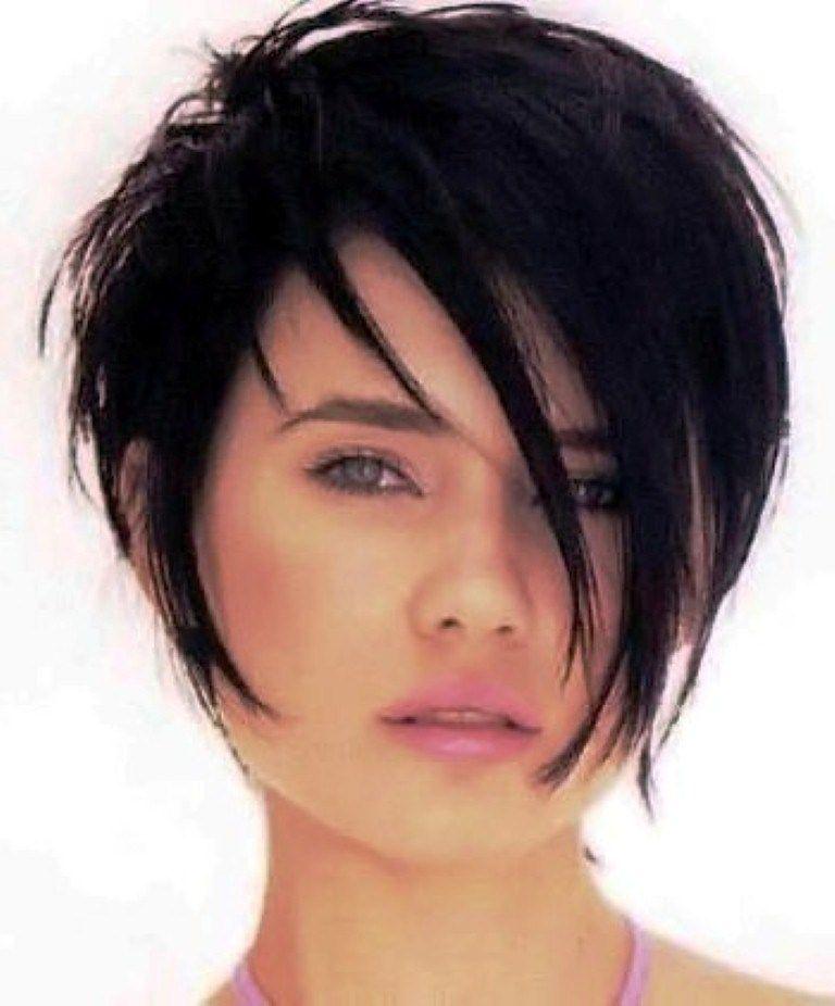 Short Dark Women Hairstyles Frisuren Frisur In 2019 Short Hair